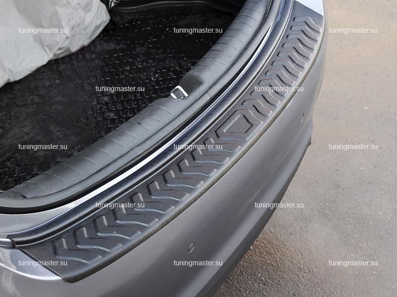 Накладка на задний бампер Hyundai Solaris (пластик)
