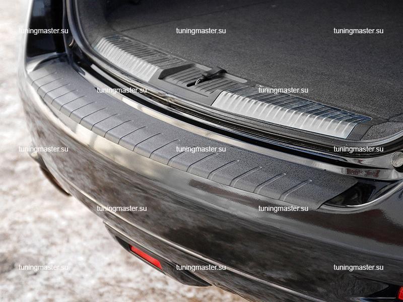 Накладка на задний бампер Nissan Murano с загибом