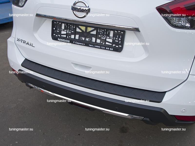 Накладка на задний бампер Nissan X-Trail T32 рестайлинг (пластик) (4)