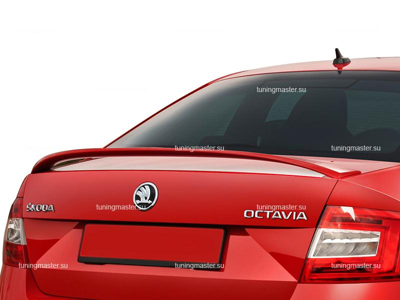 Спойлер на крышку багажника Skoda Octavia A7 RS