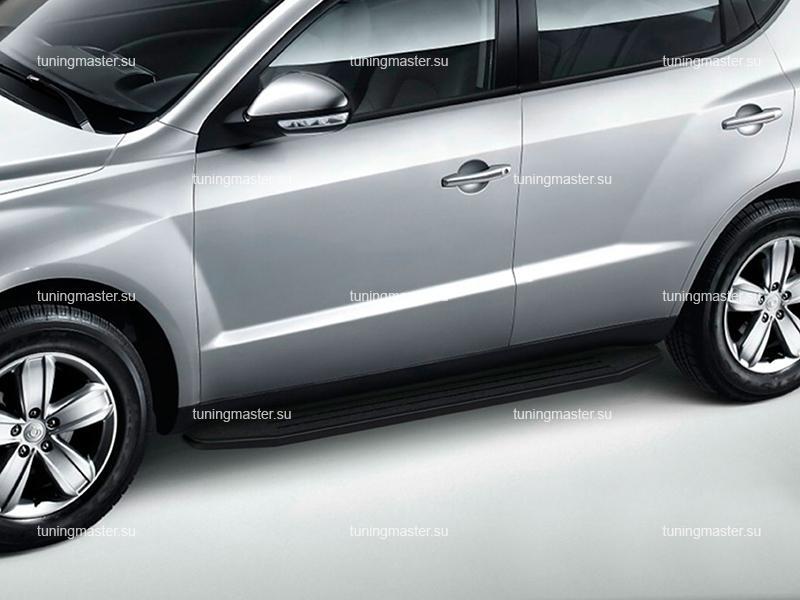 Пороги Geely Emgrand X7 (Premium Black)