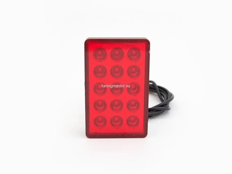 Стоп-сигнал диодный в диффузор заднего бампера (красный)