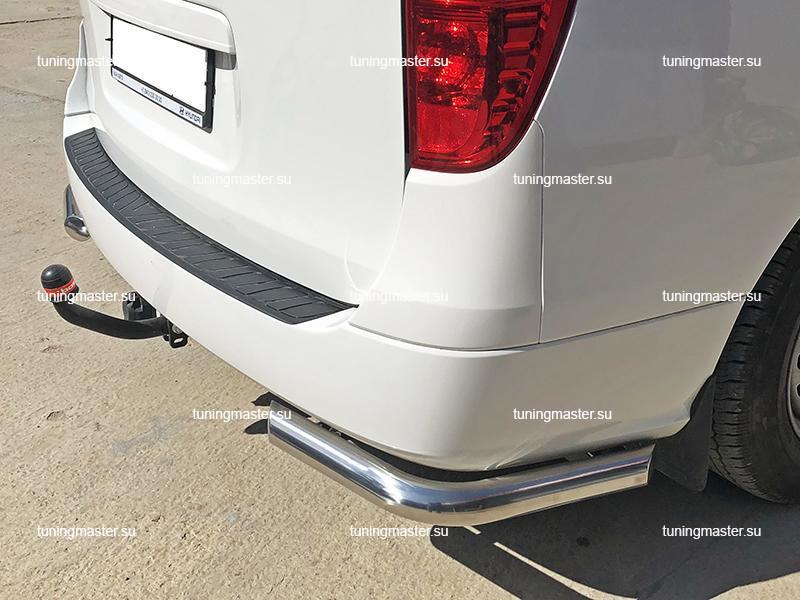 Защита заднего бампера Hyundai Grand Starex углы Ø60
