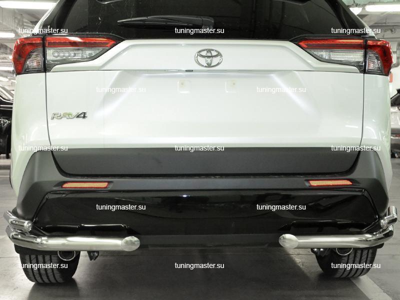 Защита заднего бампера Toyota RAV4 XA 50 двойные уголки Ø60