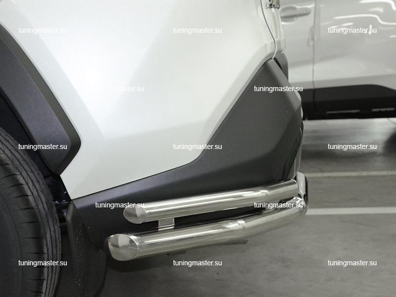 Защита заднего бампера Toyota RAV4 XA 50 двойные уголки