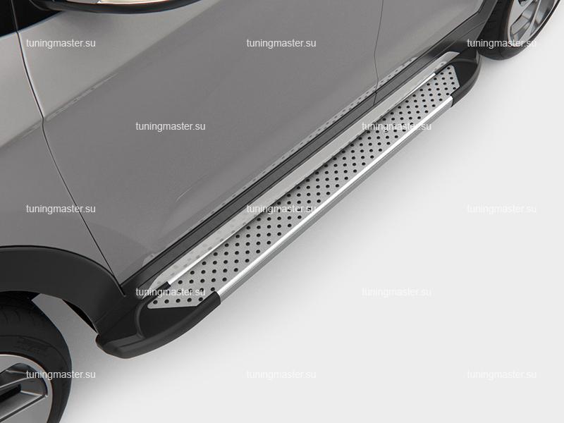 Пороги на авто (Sapphire Silver) Canotomotiv