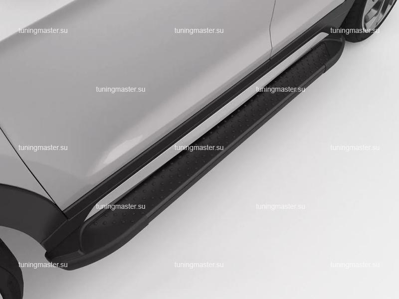 Пороги на авто алюминиевые Sapphire Black бмв стиль