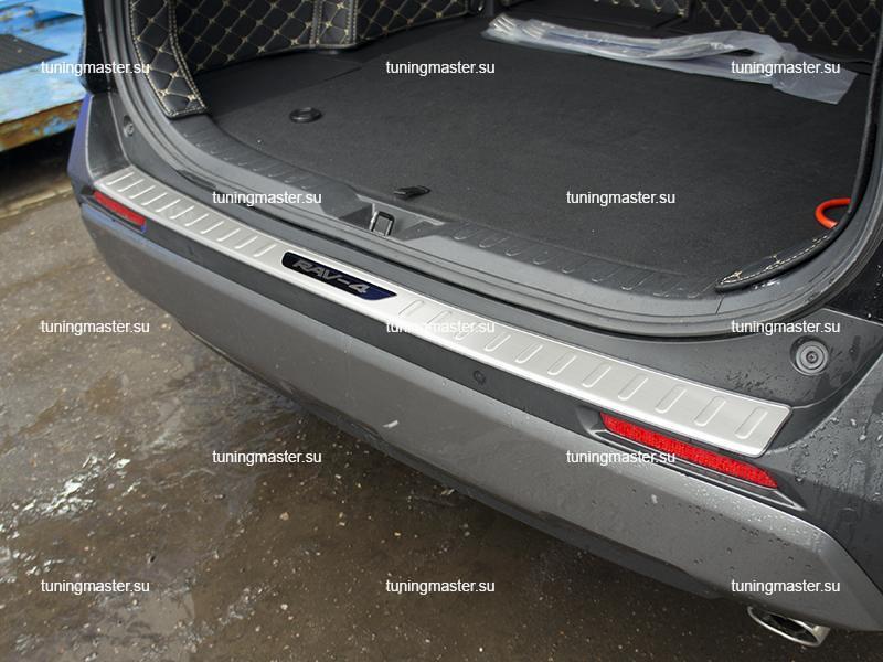 Накладка на задний бампер Toyota Rav 4 XA-50 с загибом