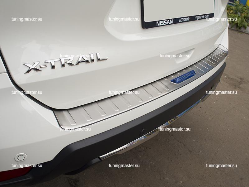 Накладка на задний бампер Nissan X-Trail T32 рестайлинг (5)