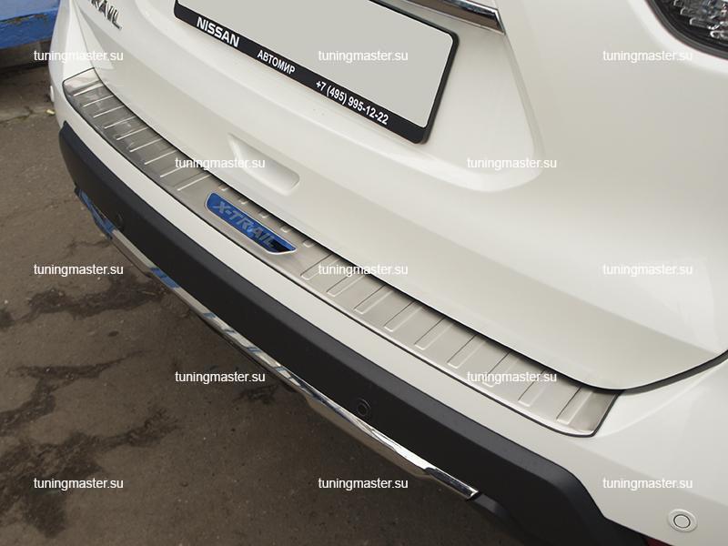 Накладка на задний бампер Nissan X-Trail T32 рестайлинг (6)
