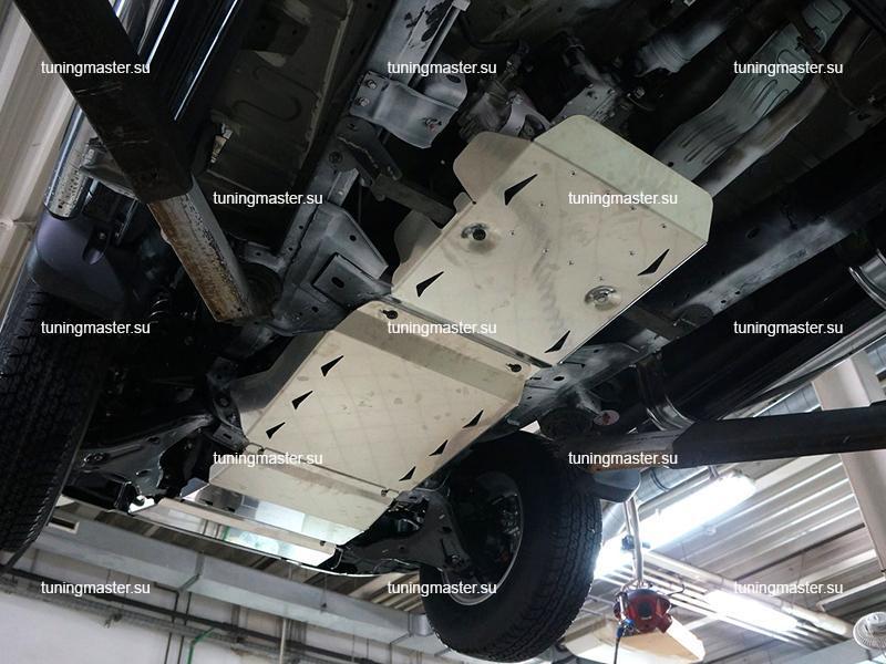Комплект защит картера Mitsubishi Pajero Sport 3 (алюминиевая) (2)