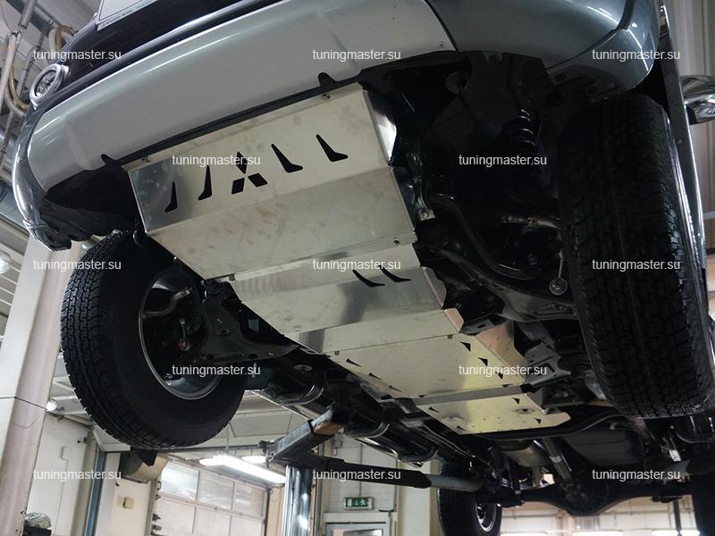 Комплект защит картера Mitsubishi Pajero Sport 3 (алюминиевая)