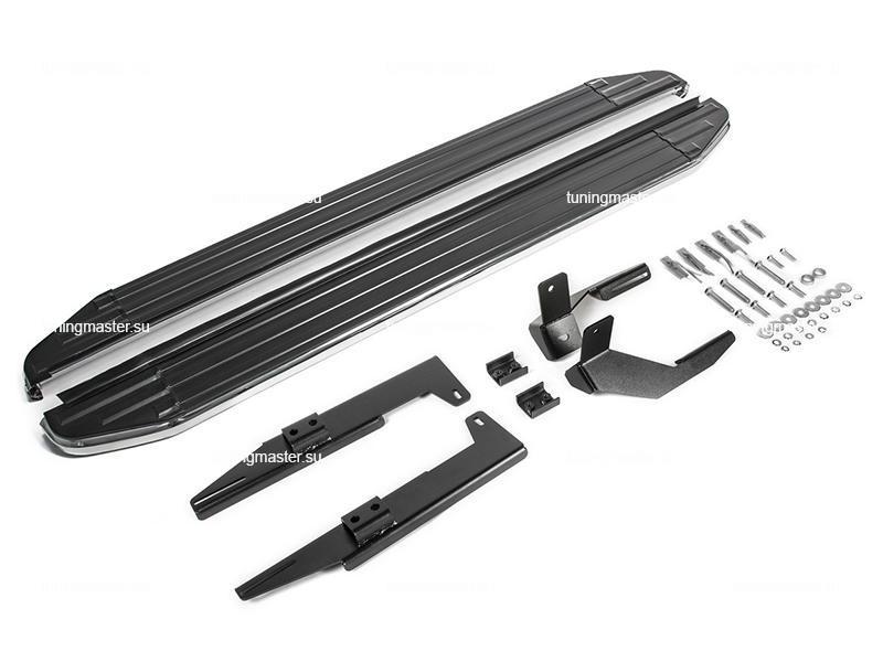 Пороги алюминиевые Suzuki SX4 (Premium Black)