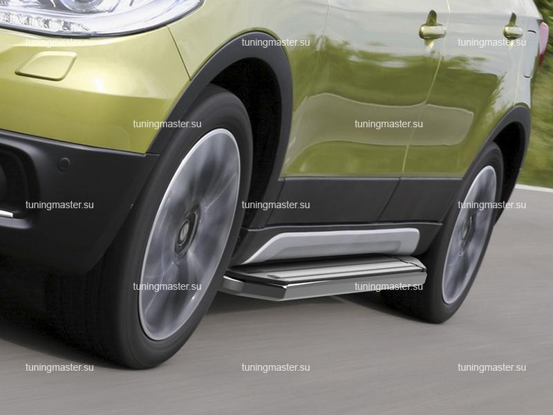 Пороги алюминиевые Suzuki SX4 (Premium)