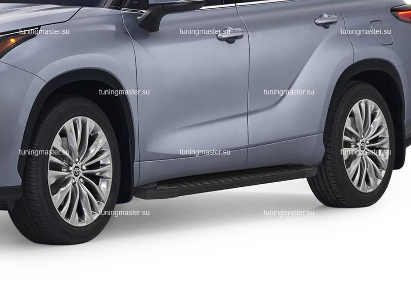 Пороги алюминиевые Toyota Highlander 4 (Silver)