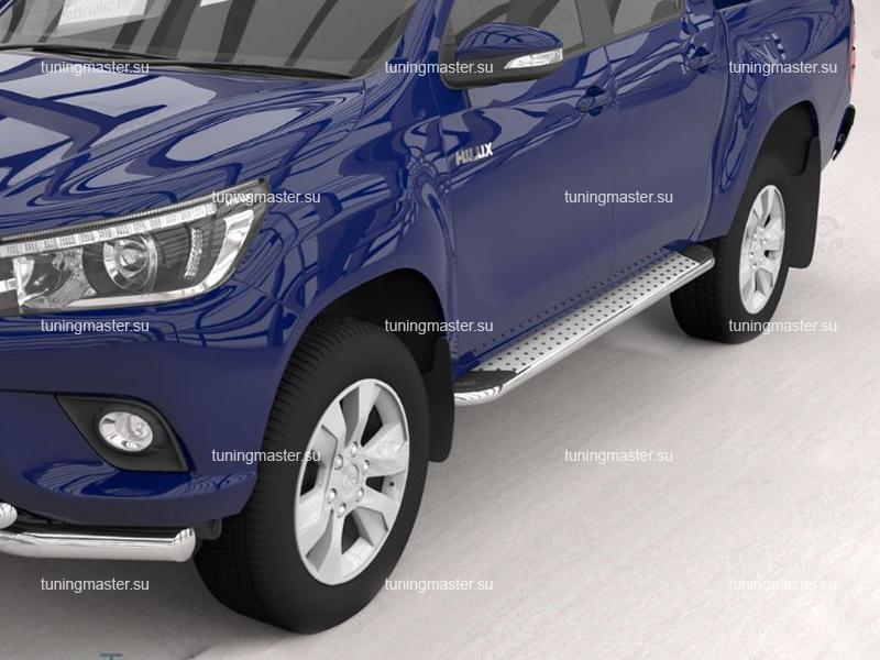 Пороги алюминиевые Toyota Hilux 8 (Opal)