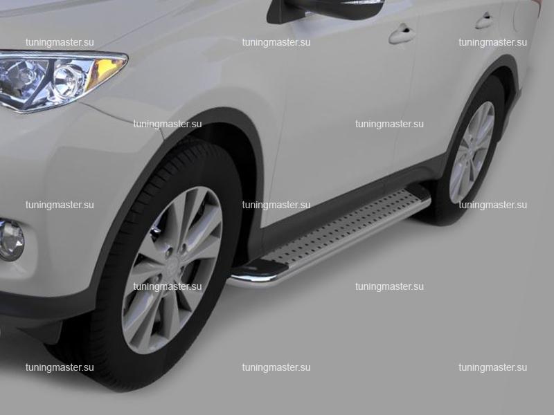 Пороги алюминиевые Toyota RAV4 (Opal)