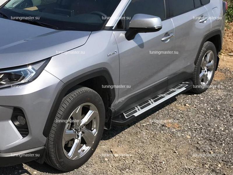 Пороги алюминиевые Toyota RAV4 XA50 (Sunrise)