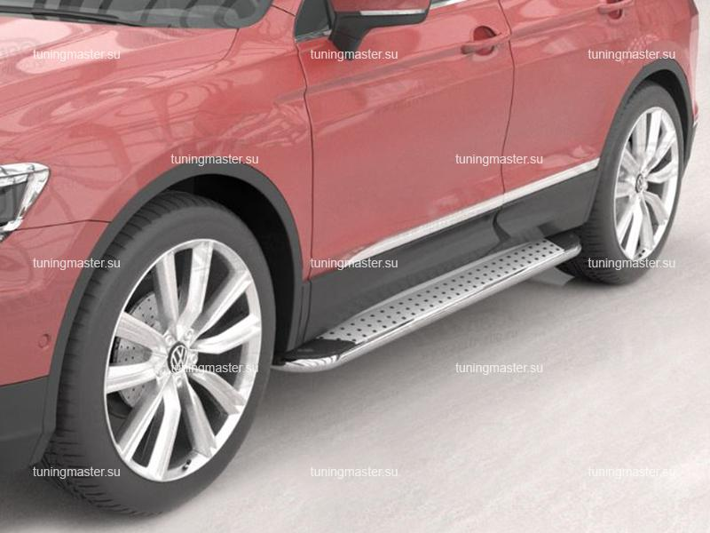 Пороги алюминиевые VolksWagen Tiguan 2 (Opal)