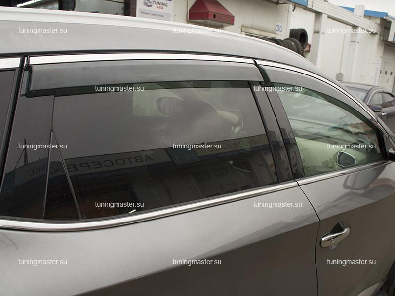 Дефлекторы боковые Nissan Murano Z52 с хромированным молдингом (2)