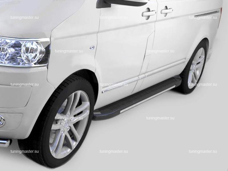 Пороги алюминиевые Volkswagen Transporter T6 (Onyx)
